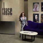 Chase in her Manhattan agency office