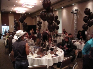 Black balloons make any event festive...