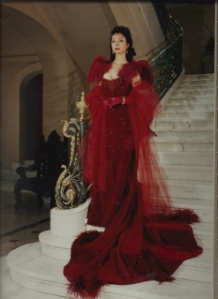 Marsha Long as Scarlett wearing gown by Tom Courtney and photographed by Jack Boucher - 1992.