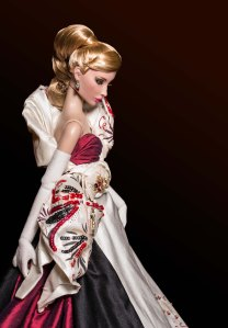Barcelona - One-of-a-Kind Dressed Doll Hybrid FR16/Antoinette Frankendolly Fabric Sketch by Tom Courtney