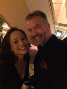 With Vicky Garnier
