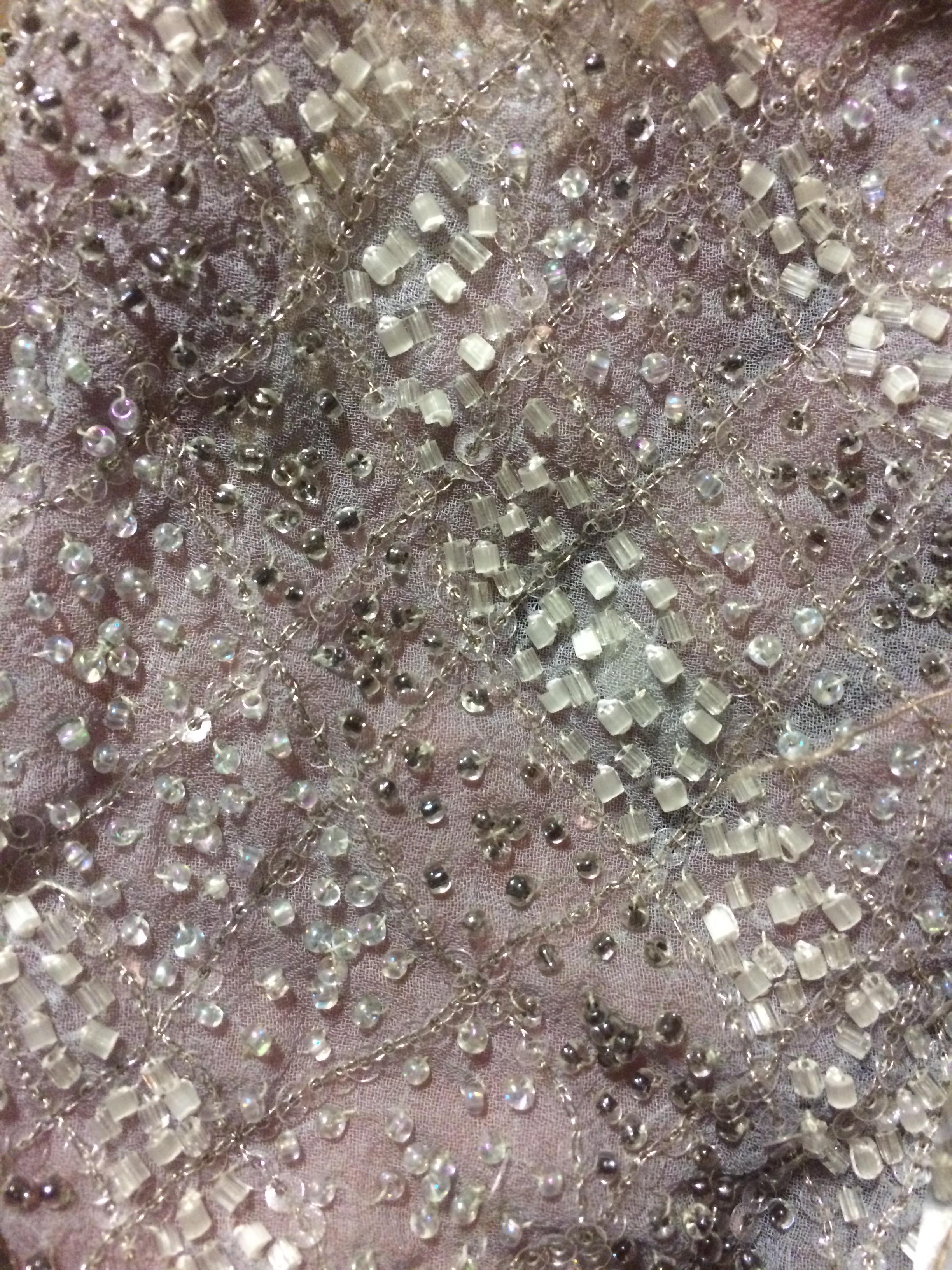 Beaded Chiffon Fabric