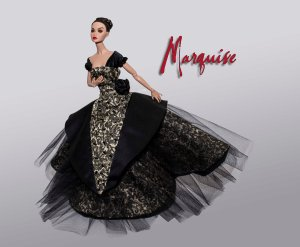 Marquise - OOAK Gown b Tom Courtney to fit 12inch Poppy Parker, Victoire Roux and Silkstone Barbie