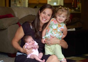 Elizabeth with eldest daughter, Layla, and the newly born Liliana...