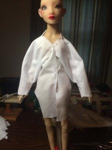 First drape...