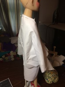 Observing the drape...I did alot of that...