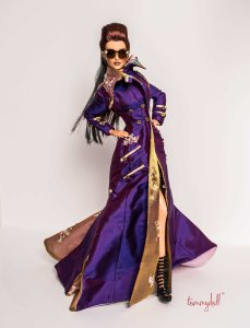 Der Kommissar OOAK Glam Trench by Tom Courtney for Kingdom's Doll's Brunel - Sunglasses by Superdoll of London