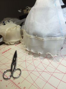 Petticoat trim added to judge length...
