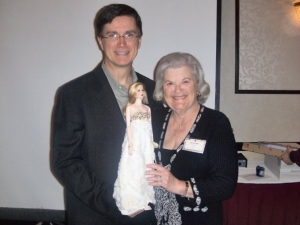 Paula Kagan with Doug James and his Metro Dolls Auction CED OOAK